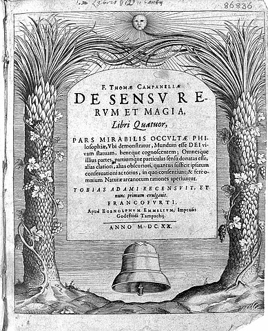 Титульный лист трактата «О способности вещей к ощущению и магии»