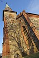 Tjøme kirke Church nygotisk langkirke 1866 Architect Anders Thorød Tower tårn Shadow skygge Winter afternoon light Færder Municipality, Norway 2020-01-15 1871.jpg