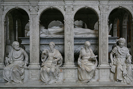 The tomb of Louis XII of France and Anne de Bretagne at the Basilique Saint-Denis (Detail)
