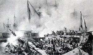 HMS Tonnant (1798) - Death of Du Petit-Thouars, by Auguste Mayer