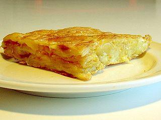 Spanish omelette potato dish