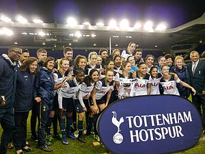 2016–17 FA Women's Premier League - Tottenham celebrating winning the league.