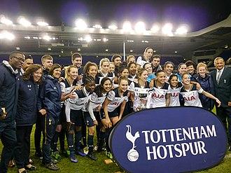 2016–17 FA Women's Premier League - Tottenham celebrating winning the league.