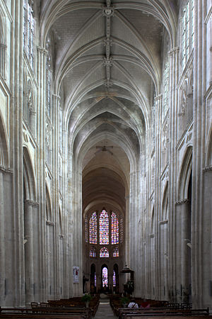 Tours Cathedral - View of the nave