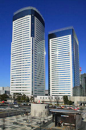 NTT DATA - NTT Data headquarters are in Toyosu Center Bldg. (left) and its annex (right) in Toyosu, Koto-ku, Tokyo.