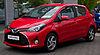 Toyota Yaris Hybrid Comfort (XP130, Facelift) – Frontansicht, 6. September 2014, Düsseldorf.jpg