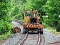 Track vehicle on Needham Junction wye, May 2012.JPG