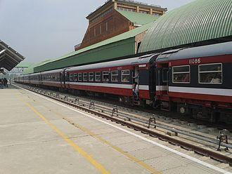 Srinagar railway station - Image: Train in Kashmir 2014 08 10 23 41
