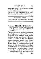 Trauriges Schicksal des P. Anianus, weiland gewesenen Lectors der Philosophie und Theologie im Capucinerkloster zu Bamberg, S. 177-184