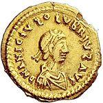 Tremissis Olybrius (anverso) .jpg