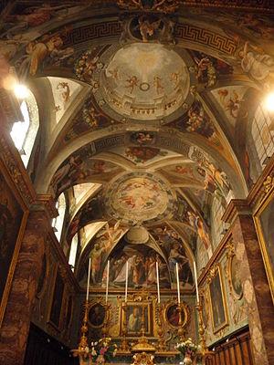 Giovanni Alberti - San Silvestro al Quirinale with frescoes by Giovanni Alberti and his brother Cherubino