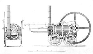 Trevithick's Coalbrookdale locomotive, 1803 (British Railway Locomotives 1803-1853).jpg