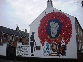 1994 Shankill Road killings - Trevor King mural, Disraeli Street, May 2012