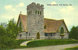 York Harbor, Maine - Trinity Church in 1913
