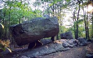 Kinnelon, New Jersey - Tripod Rock in Pyramid Mountain County Park