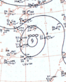 Tropical Storm Wilda analysis 12 Oct 1961.png