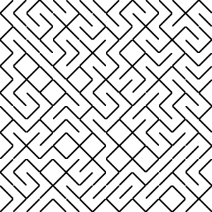 Truchet tiles - A labyrinth generated from diagonal tiles