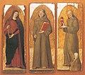 Tuccio d'Andria - Santa Caterina Alessandria, Sant'Antonio da Padova, San Giacomo della Marca - Pinacoteca Bari.jpg