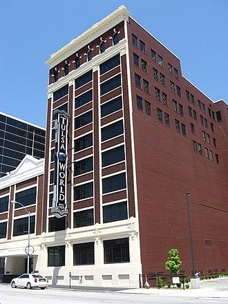 Tulsa World - Tulsa World's headquarters located in downtown Tulsa.