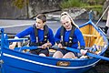 Two Faroese rowers and their boat. Photo by Ólavur Frederiksen, July 19, 2021.jpg