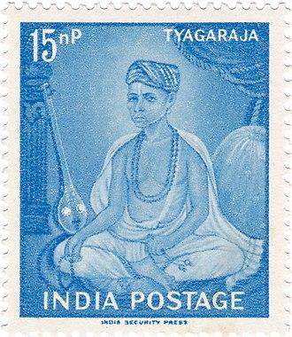 Tyagaraja - Tyagaraja on a 1961 stamp of India