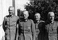 Tyske offiserer- Oberstlt. Haslinde, Oberst Gießen, Major Dr. Kühner, Major Wengenmeier (7534681114).jpg
