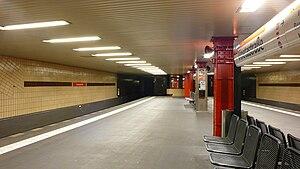 Vinetastraße (Berlin U-Bahn) - Platform, Vinetastraße U-Bahn station