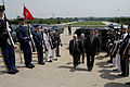 U.S. Deputy Secretary of Defense Ash Carter, center right, escorts Tunisian Minister of Defense Rachid Sabbagh, center left, through an honor cordon at the Pentagon in Arlington, Va., May 28, 2013 130528-D-BW835-028.jpg