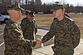 U.S. Marine Corps Gen. James F. Amos, left, the commandant of the Marine Corps, arrives at The Basic School at Marine Corps Base Quantico, Va., March 4, 2013 130304-M-LU710-005.jpg