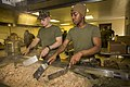 U.S. Marine Corps Lance Cpl. Daniel Banewicz, left, a rifleman with the 3rd Intelligence Battalion, III Marine Expeditionary Force (MEF), and Pfc. Gregory Carson, a supply administration and operations 140328-M-UQ794-073.jpg