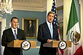 U.S. Secretary of State John Kerry and Mexican Foreign Secretary Jose Antonio Meade address reporters after their bilateral meeting at the U.S. Department of State in Washington, D.C., on April 19, 2013.jpg