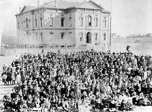University of California, Los Angeles - The Los Angeles branch of California State Normal School, 1881.