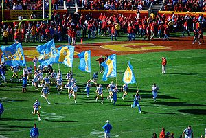 UCLA Bruins - UCLA Bruins enter the LA Coliseum, 2007
