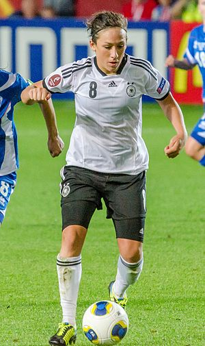 Nadine Keßler - Keßler playing for Germany at UEFA Women's Euro 2013