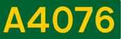 A4076 road shield
