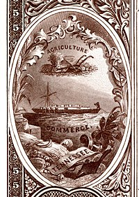 Tennessee state coat of arms from the reverse of the National Bank Note Series 1882BB