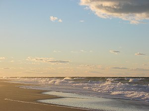 Cape Cod beach at sunset, Race Point Beach