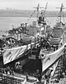 USS Aaron Ward (DD-483) and USS Buchanan (DD-484) ready for launching, 1941.jpg