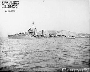 USS Case (DD-370) - Image: USS Case DD370 underway