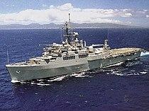 USS Coronado (AGF-11) underway at sea in the 1990s.jpg