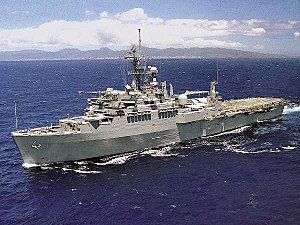 USS Coronado (AGF-11) underway at sea in the 1990s.jpg