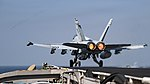 USS Dwight D. Eisenhower conducts flight operations. (30370165446).jpg
