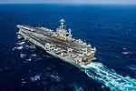USS John C. Stennis sails through the Philippine Sea. (25213712055).jpg