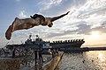USS Kearsarge holds a swim call. (9135770282).jpg