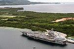 USS Ronald Reagan is moored in Apra Harbor, U.S. Naval Base Guam. (29951082926).jpg