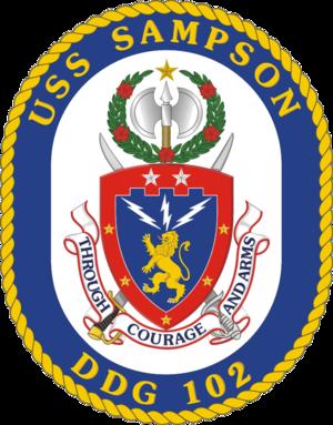 USS Sampson (DDG-102) - Image: USS Sampson DDG 102 Crest