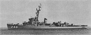 USS Snowden (DE-246) underway in 1959 (1396905870236)