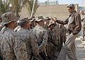 US Navy 050106-M-8096K-018 Sen. John Kerry (D-MA) speaks to Marines and Sailors during his visit to Camp Fallujah, Iraq.jpg
