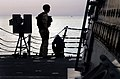 US Navy 070515-N-0684R-045 Ensign Frank Bierberly watches as the rest of his boarding team returns to the guided-missile destroyer USS Preble (DDG 88) after a day of performing Interaction Patrols (IPATS) in the north Persian G.jpg