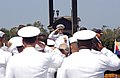 US Navy 070830-N-8327R-012 Sailors salute during the national anthem during a dedication ceremony to name the main entrance to Naval Air Station North Island.jpg